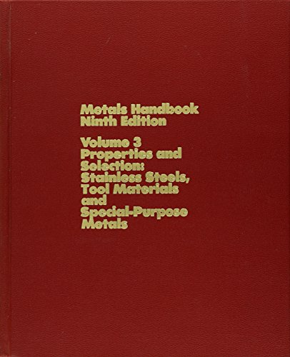 9780871700094: Metals Handbook, Properties and Selection: Stainless Steels, Tool Materials and Special-Purpose Metals, Vol. 3, 9th Edition