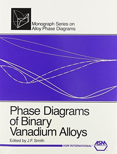 9780871703545: Phase Diagrams of Binary Vanadium Alloys (Monograph Series on Alloy Phase Diagrams)