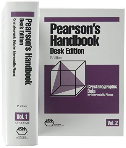 9780871706034: Pearson's Handbook: Desk Edition: Crystallographic Data for Intermetallic Phases (2 Volume Set): Updated Desk Edition