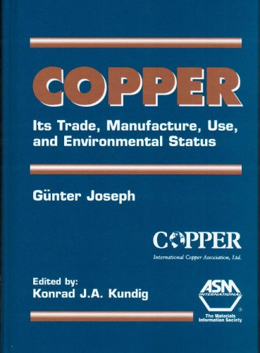 9780871706560: Copper: Its Trade, Manufacture, Use, and Envionmental Status