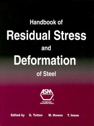 9780871707291: Handbook of Residual Stress and Deformation of Steel