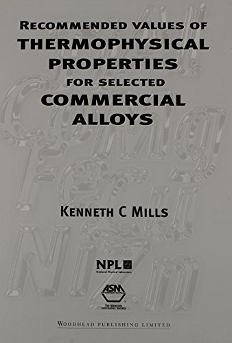 9780871707536: Recommended Values of Thermophysical Properties for Selected Commercial Alloys