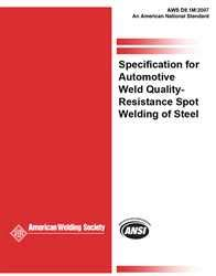 9780871710659: SPECIFICATION FOR AUTOMOTIVE WELD QUALITY—RESISTANCE SPOT WELDING OF STEEL
