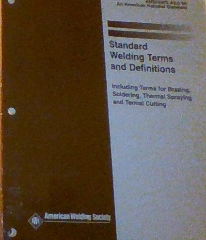 9780871714558: Standard Welding Terms and Definitions: Ansi/Aws A3.0-94