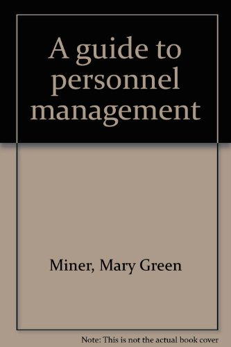 A guide to personnel management: Miner, Mary Green