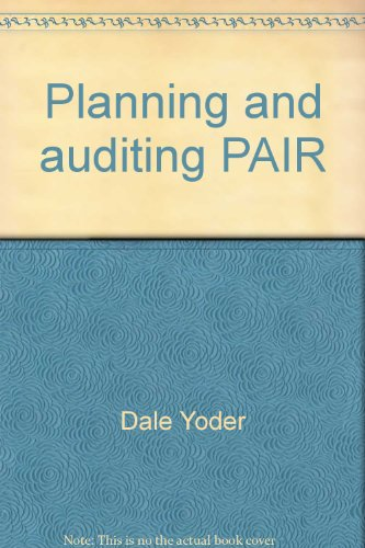 9780871792037: Planning and auditing PAIR (ASPA Handbook of Personnel and Industrial Relation)