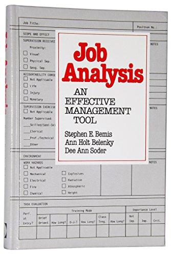 9780871794123: Job Analysis: An Effective Management Tool
