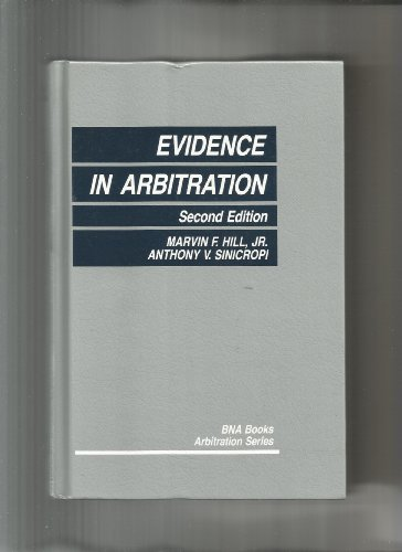 9780871795366: Evidence in Arbitration (Bna Books Arbitration Series)