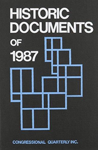 Historic Documents of 1987: Inc Staff Congressional Quarterly