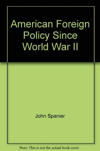 9780871874481: American foreign policy since World War II
