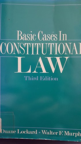 9780871876102: Basic Cases in Constitutional Law