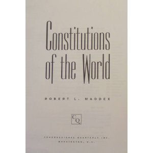 9780871879929: Constitutions of the World