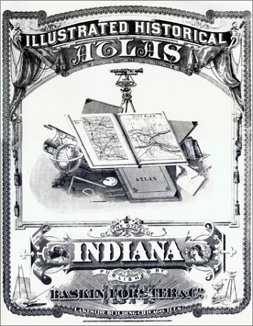 9780871950598: Illustated Historical Atlas of the State of Indiana 1876