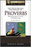 9780871962980: The Facts on File Dictionary of Proverbs