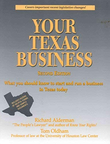 9780872011823: Your Texas business: Everything you should know to start and run a business in Texas today