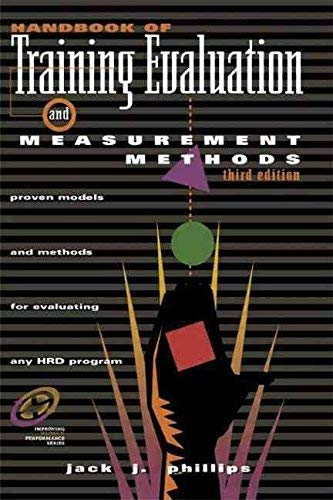 9780872018778: Handbook of Training Evaluation and Measurement Methods