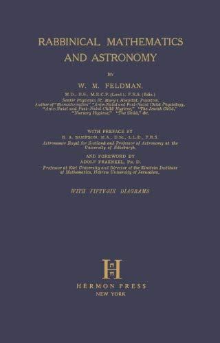 9780872030268: Rabbinical Mathematics and Astronomy (Judaic Studies Library ; No. Shp4)