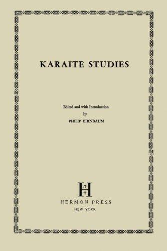 9780872030275: Karaite studies [Paperback] by Birnbaum, Philip