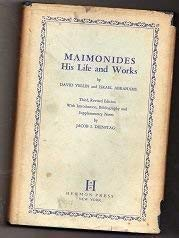 9780872030312: Maimonides: his life and works,