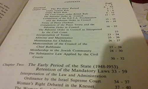 Husband and Wife in Israeli Law: Chigier, Moshe