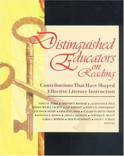 Distinguished Educators on Reading :?Contributions That Have: Judith Hendershot, Elizabeth