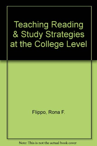 9780872073593: Teaching Reading & Study Strategies at the College Level