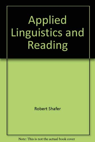 9780872077225: Applied linguistics and reading