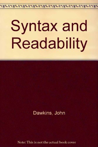 9780872079311: Syntax and readability