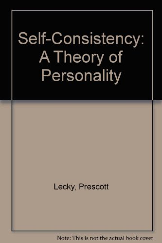 9780872083103: Self-Consistency: A Theory of Personality