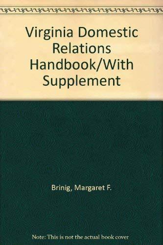 9780872159341: Virginia Domestic Relations Handbook/With Supplement