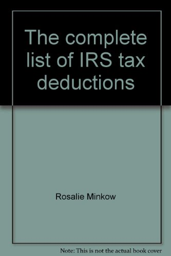 9780872169845: The complete list of IRS tax deductions