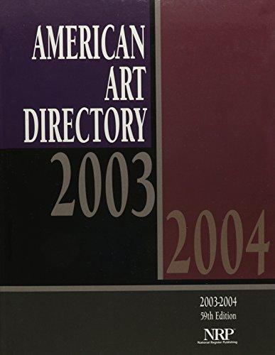 9780872178489: American Art Directory 2003-2004