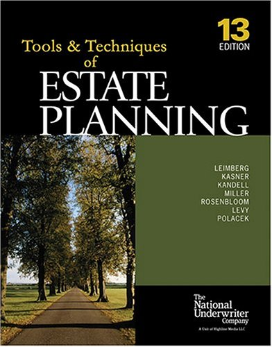 9780872186521: The Tools & Techniques Of Estate Planning
