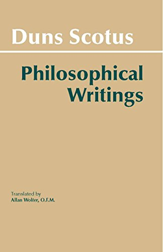 9780872200180: Duns Scotus - Philosophical Writings: A Selection