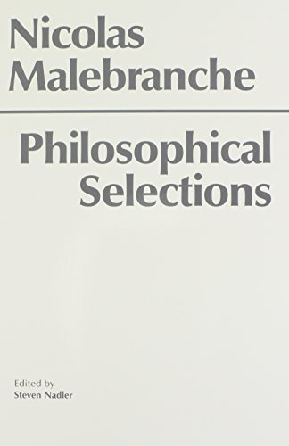 9780872201521: Malebranche: Philosophical Selections (Hackett Classics)
