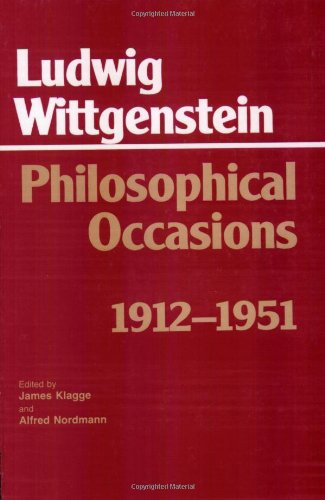 9780872201545: Philosophical Occasions, 1912-51