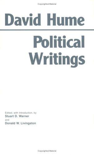 9780872201606: Hume: Political Writings (Hackett Classics)