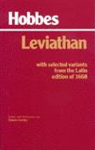 9780872201781: Leviathan: With selected variants from the Latin edition of 1668 (Hackett Classics)