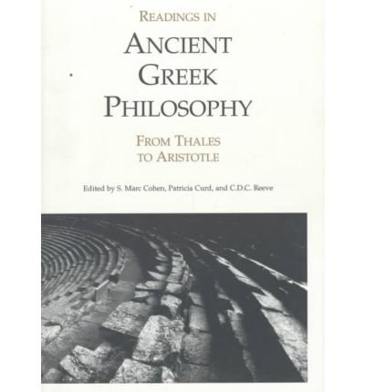 9780872203129: Readings in Ancient Greek Philosophy: From Thales to Aristotle
