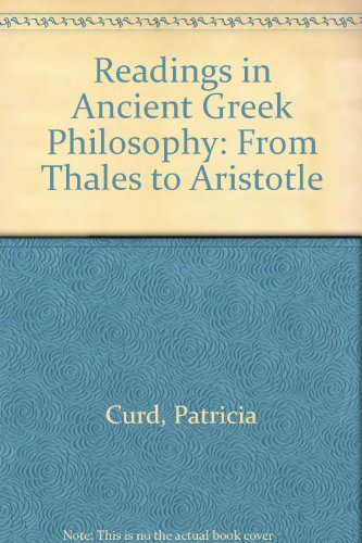 9780872203136: Readings in Ancient Greek Philosophy: From Thales to Aristotle