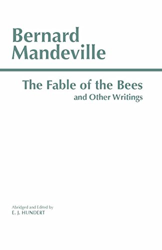 9780872203747: The Fable of the Bees and Other Writings
