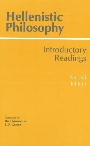 Hellenistic Philosophy Introductory Readings by Inwood ...