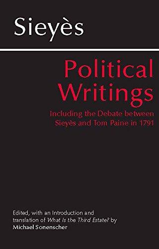9780872204300: Sieyes: Political Writings: Including the Debate Between Sieyes and Tom Paine in 1791 (Hackett Classics)