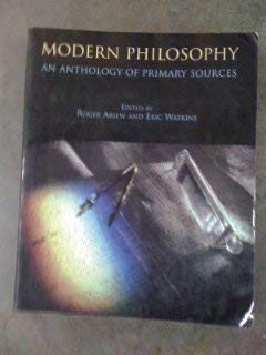9780872204416: Modern Philosophy: An Anthology of Primary Sources