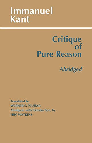 9780872204485: Critique of Pure Reason, Abridged (Hackett Classics)