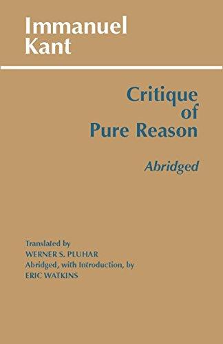 9780872204485: Critique of Pure Reason, Abridged (Hackett Publishing Co.)