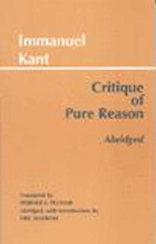 9780872204492: Critique of Pure Reason (Hackett Classics)