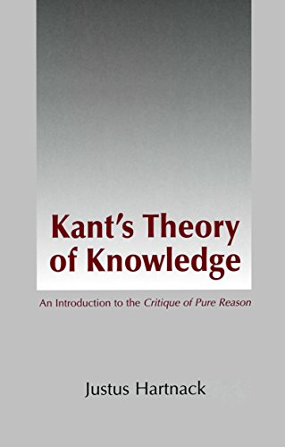 9780872205062: Kant's Theory of Knowledge