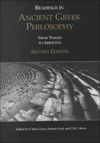 9780872205383: Readings in Ancient Greek Philosophy: From Thales to Aristotle