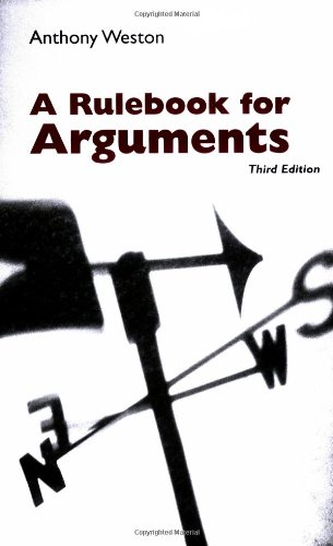 9780872205529: A Rulebook for Arguments